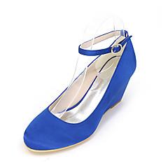 Women's Heels Spring / Summer / Fall Wedges / Round Toe Silk Wedding / Party & Evening