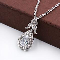Fashion High-End Water Drop Rhinestone Necklace Set