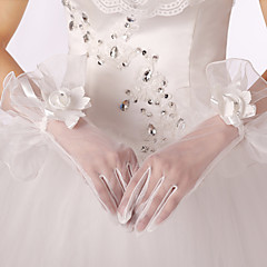 Wrist Length Fingertips Glove Lace Bridal Gloves Spring Summer Fall Winter Embroidery