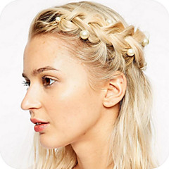 Lovely Delicate Pearl Hair Rotating Screw 5Pcs