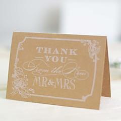 Não personalizado Dobrados Convites de casamentoO menu do casamento / Cartões de convite / Cartões de Obrigado / Cartões de resposta /