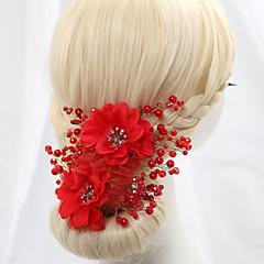 Mulheres Menina das Flores Cetim Crostal Imitação de Pérola Capacete-Casamento Ocasião Especial Flores