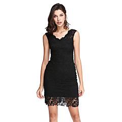 2017 ts couture® cocktail party dress schede / column v-hals korte / mini kant met kant