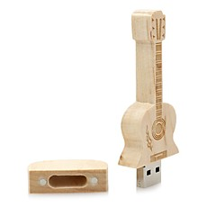 Wooden Guitar USB Flash Drive Disk 16GB USB 2.0 Gift Pen Drive