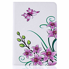 Pour Porte Carte Avec Support Clapet Motif Coque Coque Intégrale Coque Papillon Dur Cuir PU pour Apple iPad Mini 4 iPad Mini 3/2/1