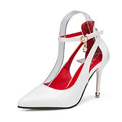 Feminino-Saltos-Conforto-Salto Agulha-Preto Rosa Vermelho Branco-Couro Ecológico-Casual