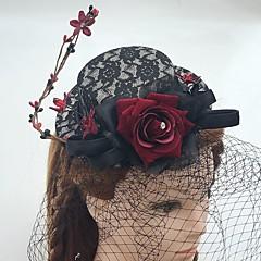 נשים תחרה / פשתן / רשת כיסוי ראש-חתונה / אירוע מיוחד / קז'ואל קישוטי שיער / Birdcage Veils חלק 1