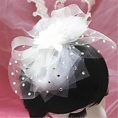 Femme Alliage Imitation de perle Filet Casque-Mariage Occasion spéciale Voile de cage à oiseaux 1 Pièce