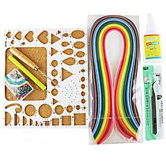 400pcs Quilling papír DIY kézműves dekoráció kit / 7db beállítva