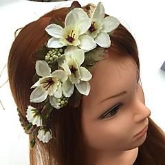 Mujer Lino Gasa Celada-Boda Ocasión especial Bandas de cabeza Flores Gomas de Pelo 1 Pieza