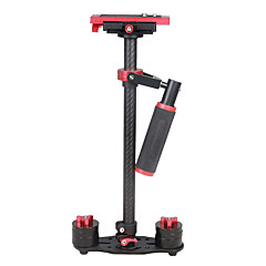 yelangu s60t 60cm carbon fiber handheld stabilisator voor dslr camera dv (rood)