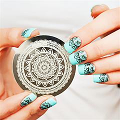 pleine fleur conception nail art timbre clous de plaque d'image modèle estampage art décoration modèle de clou