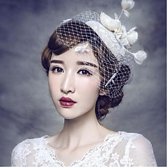 Women's Lace / Net Headpiece-Wedding / Special Occasion / Casual / OutdoorHeadbands / Fascinators / Hair Combs / Flowers / Hair Pin /
