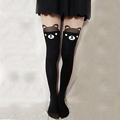 Meias e Meias-Calças Doce Lolita Lolita Preto Lolita Acessórios Meias Finas Estampado Para Feminino Veludo
