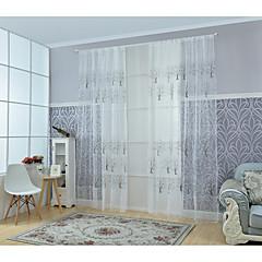 Ein Panel Window Treatment Modern Wohnzimmer Poly /  Baumwollmischung Stoff Gardinen Shades Haus Dekoration For Fenster