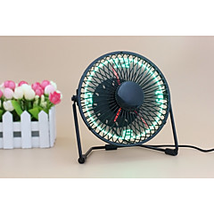 Novelty Clock Fan with Floating LED Time Display  145*168*115   UF-240-07 130cm   Black