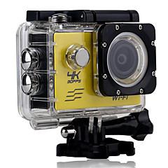 4K Sports Action Camera 16MP 4000 x 3000 WiFi / Waterproof / Adjustable / wireless 30fps 4x ±2EV 2 CMOS 64 GB H.264Single Shot / Burst