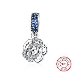 die europäischen und amerikanischen Modeschmuck 925 Sterling Silber Anhänger Anhänger hängen - Rose Form Zubehör