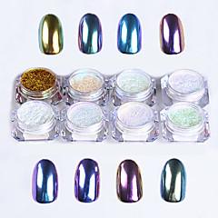8pcs Unha Arte Decoração strass pérolas maquiagem Cosméticos Prego Design Arte