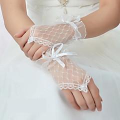 K zápěstí Bez prstů Rukavice Síť Pro nevěstu Jaro Léto Podzim
