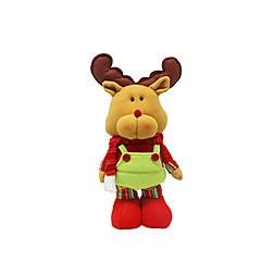 크리스마스 장식 크리스마스 장난감 홀리데이 용품 3Pcs 크리스마스 텍스타일 아이보리 화이트 골드