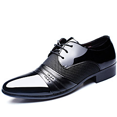 Men's Oxfords Spring Summer Fall Winter Comfort Cowhide Office & Career Casual Party & Evening Black Brown Walking