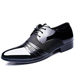 Masculino-Oxfords-Conforto Sapatos formaisPreto Marrom-Pele-Escritório & Trabalho Casual Festas & Noite