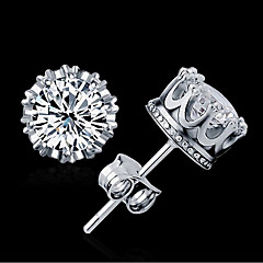 AAA Cubic Zirconia Stud Earrings Jewelry Women Wedding Zircon 1 pair Gold Silver