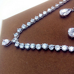 Women's Jewelry Set Zircon Cubic Zirconia Necklaces Earrings For Party Wedding Gifts