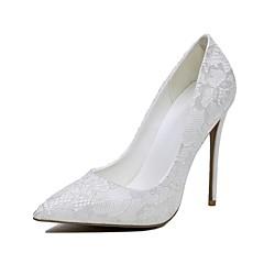 Others-Stiletto-Női cipő-Magassarkúak-Esküvői-Csipke-Fehér