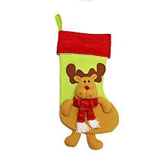 Božićne igračke Poklon vrećice Blagdanske potrpštine 3Pcs Božić Tekstil Srebrna Obala Bijela
