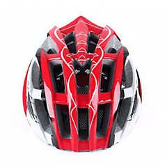 Unisex Bike Helmet N/A Vents Cycling Cycling / Mountain Cycling / Road Cycling / Recreational Cycling One Size EPS+EPU Red
