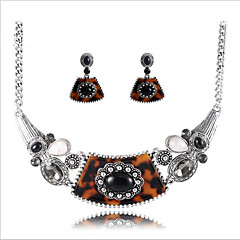 Jewelry Necklaces Earrings Wedding Party Daily Alloy 1set Women As Per Picture Wedding Gifts