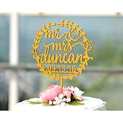 Tortenfiguren & Dekoration individualisiert Klassisches Paar Monogramm Harz Acryl Chrom Hochzeit Jubliläum BrautpartyRosa Gold Silber