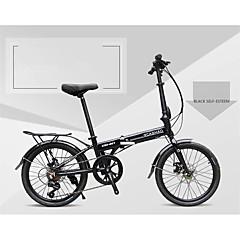 Folding Bike Cycling 7 Speed 20 Inch 40mm Men's Womens Unisex Adult SHIMANO 30 Double Disc Brake