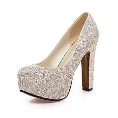 Egyéb-Vastag-Női cipő-Magassarkúak-Esküvői Irodai Party és Estélyi-Glitter-Kék Fehér Arany