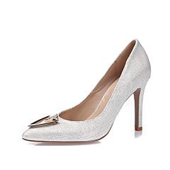 Women's Heels Spring Summer Fall Winter Other Glitter Leatherette Wedding Party & Evening Dress Stiletto Heel RhinestoneBlack Gold