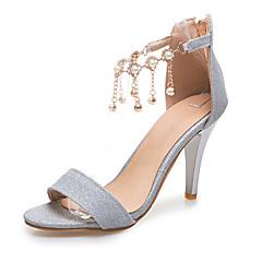 Sandály-Lakovaná kůže TřpytkyDámské-Zlatá Stříbrná Červená-Svatba Běžné Party-Vysoký