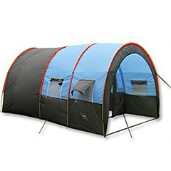 5-8 persons Tent Family Camping Tents Three Rooms Camping Tent 2000-3000 mm Other Fiberglass PU OxfordWaterproof Breathability Rain-Proof