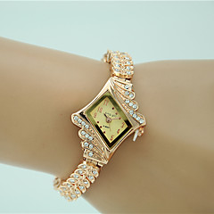 Women's Dress Watch Fashion Watch Bracelet Watch Imitation Diamond Quartz Alloy Band Charm Elegant Gold Strap Watch