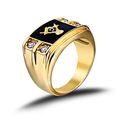Heren Bandringen Modieus Birthstones Geboortestenen Kostuum juwelen Roestvast staal Strass Gesimuleerde diamant Sieraden Voor Bruiloft