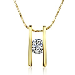 女性 ペンダントネックレス キュービックジルコニア ジルコン ゴールドメッキ 合金 幾何学形 ユニーク ぶら下がり式 幾何学形 ファッション ビンテージ ボヘミアスタイル パンクスタイル 調整可能 愛らしいです あり ヒップホップ かわいいスタイル 欧米の ゴールド