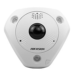 Hikvision ds-2cd63c2f-ivs 12mp fisheye netwerkcamera indoor (poe IP66 IK10 360 kijkhoek 15m ir)