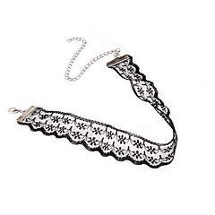 White Lace Choker Necklaces Jewelry Birthday Party Daily Casual Basic Design Unique Design for Women