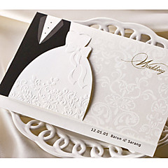 Personalized Top Fold Wedding Invitations Invitation Cards-50 Piece/Set Classic Style Pearl Paper