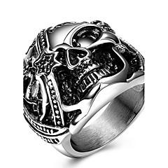 טבעות Skull shape Others עיצוב מיוחד אופנתי סטייל פאנק מותאם אישית Euramerican חתונה Party אירוע מיוחד יומי קזו'אל תכשיטים פלדת טיטניום