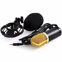 Professional BM-700 Condenser KTV Microphone BM700 Cardioid Pro Audio Studio Vocal Recording Mic KTV Karaoke+ Metal Shock Mount Com Fios