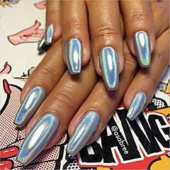 1g manicure pulver importeret spejl laser sølv glitter pulver laser køligt aurora mel galvanisering kamæleon spejl