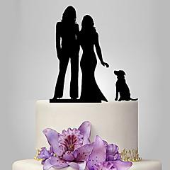 Tortenfiguren & Dekoration Nicht-personalisierte Gleichgeschlechtlich Acryl Hochzeit Jubliläum Rot Gold Silber Schwarz Klassisches Thema
