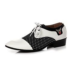 Men's Oxfords/Fashion/Comfort/Suede/Wedding/Party & Evening/Casual/Low Heel Black/White